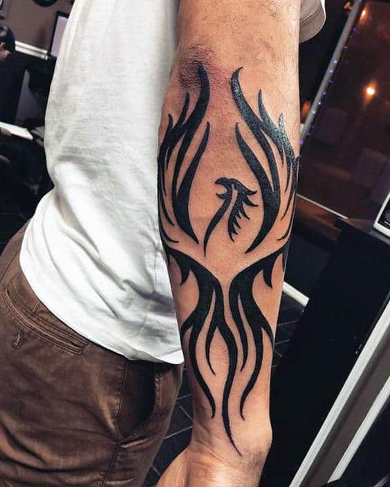 Tribal Phoenix Rising Tattoo Real