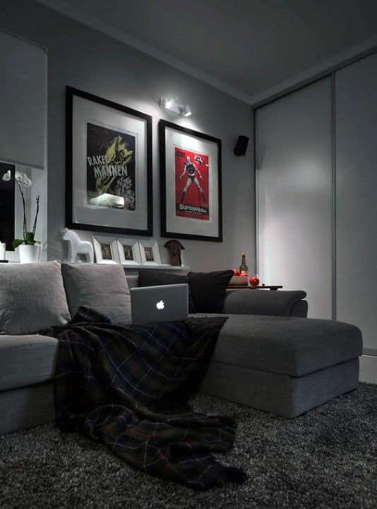 100 Bachelor Pad Living Room Ideas For Men - Masculine Designs on Bedroom Ideas For Men Small Room  id=71879