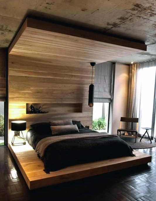 80 Bachelor Pad Men's Bedroom Ideas - Manly Interior Design on Bedroom Ideas For Men Small Room  id=64204
