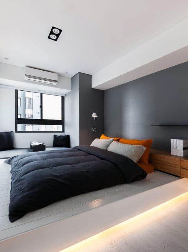 60 Men's Bedroom Ideas - Masculine Interior Design Inspiration on Small Room Ideas For Guys  id=50176