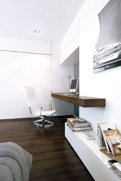 Home Office Ideas With Wood Desk
