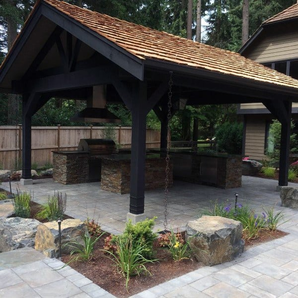 Top 50 Best Backyard Pavilion Ideas - Covered Outdoor ... on Modern Small Patio Ideas id=73170