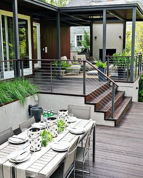 Top 50 Best Modern Deck Ideas - Contemporary Backyard Designs on Modern Backyard Patio Ideas  id=55391