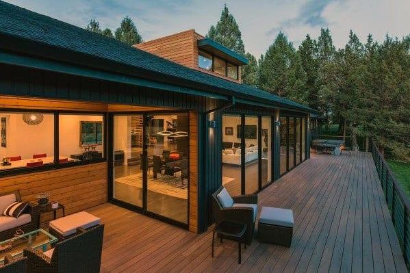 Top 50 Best Modern Deck Ideas - Contemporary Backyard Designs on Deck Inspiration  id=60004