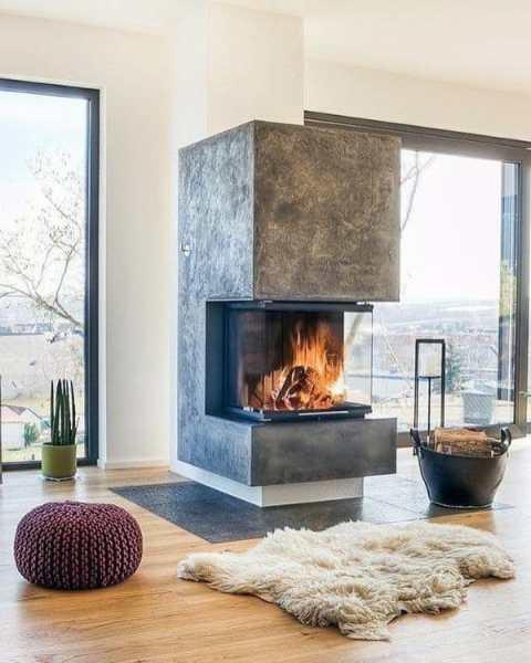 modern fireplace design ideas Top 70 Best Modern Fireplace Design Ideas - Luxury Interiors