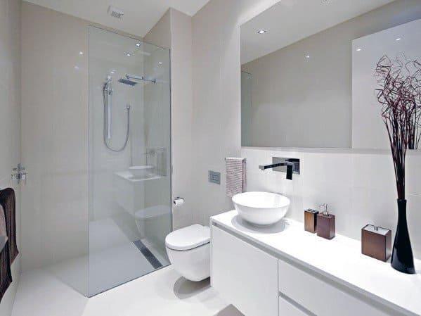 Top 60 Best White Bathroom Ideas - Home Interior Designs on White Bathroom Design Ideas  id=55625