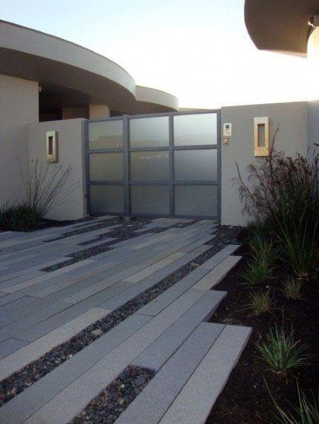 Top 50 Best Concrete Driveway Ideas Front Yard Exterior