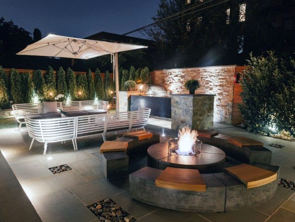Top 70 Best Modern Patio Ideas - Contemporary Outdoor Designs on Modern Backyard Patio Ideas  id=51282