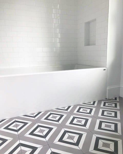 Top 60 Best Bathroom Floor Design Ideas - Luxury Tile ... on Bathroom Tile Pattern Design  id=91555