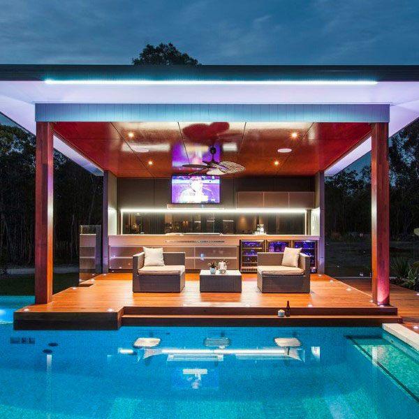 Top 50 Best Backyard Outdoor Bar Ideas - Cool Watering Holes on Backyard Pool Bar Designs id=61591