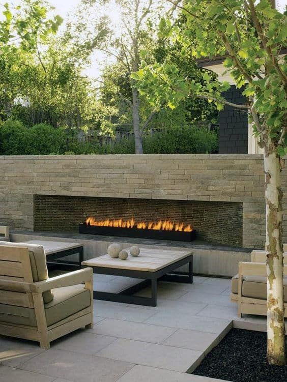 70 Outdoor Fireplace Designs For Men - Cool Fire Pit Ideas on Simple Outdoor Brick Fireplace id=21820