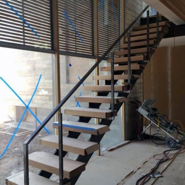 Top 50 Best Wood Stairs Ideas Wooden Staircase Designs   Steel And Wood Staircase   Steel Cable   Construction   Beautiful   New Model   Detail