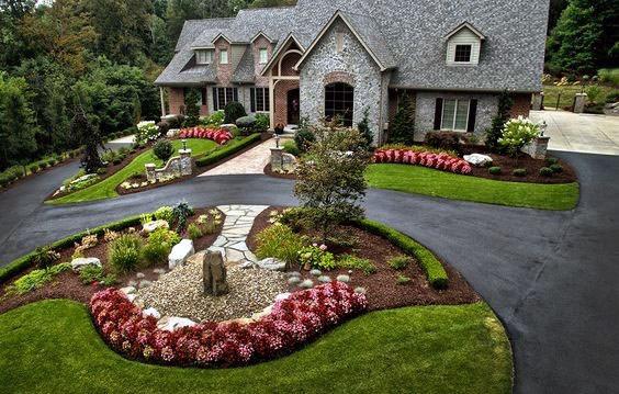 Top 70 Best Front Yard Landscaping Ideas - Outdoor Designs on Landscape Front Yard Ideas  id=86995