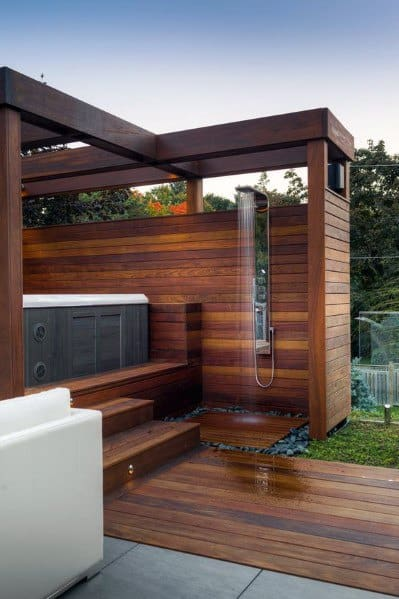 Top 80 Best Hot Tub Deck Ideas - Relaxing Backyard Designs on Deck And Hot Tub Ideas  id=73215