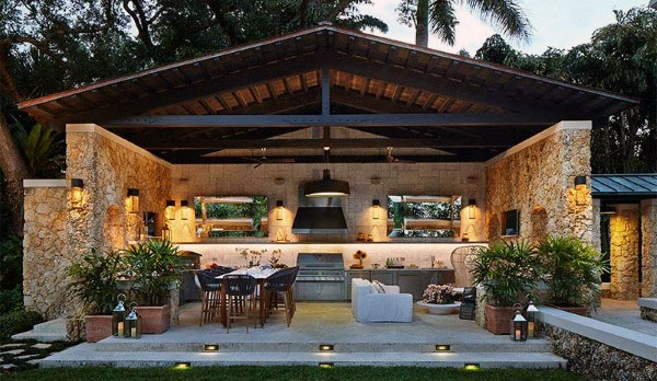 Top 50 Best Backyard Pavilion Ideas - Covered Outdoor ... on Outdoor Patio Pavilion id=68534
