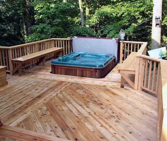 Top 80 Best Hot Tub Deck Ideas - Relaxing Backyard Designs on Deck And Hot Tub Ideas  id=85679