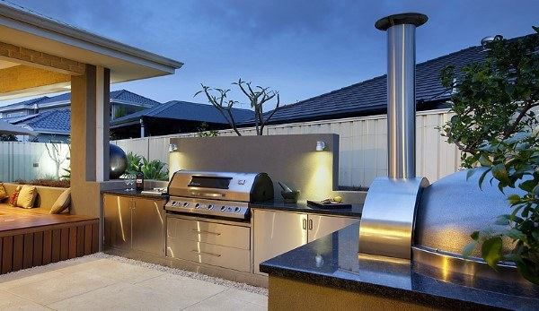 Top 60 Best Outdoor Kitchen Ideas - Chef Inspired Backyard ... on Outdoor Kitchen And Fireplace Ideas id=55583
