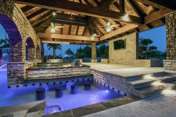Top 50 Best Backyard Outdoor Bar Ideas - Cool Watering Holes on Backyard Pool Bar Designs  id=23282