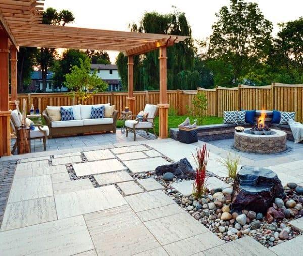 Top 60 Best Outdoor Patio Ideas - Backyard Lounge Designs on Lawn Patio Ideas id=23812