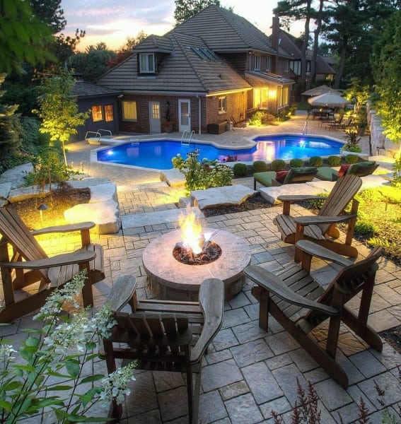 outdoor pool and patio design ideas Top 60 Best Outdoor Patio Ideas - Backyard Lounge Designs
