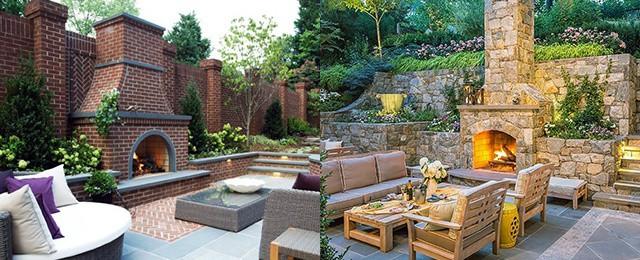 Top 60 Best Patio Fireplace Ideas - Backyard Living Space ... on Patio Top Ideas id=57714