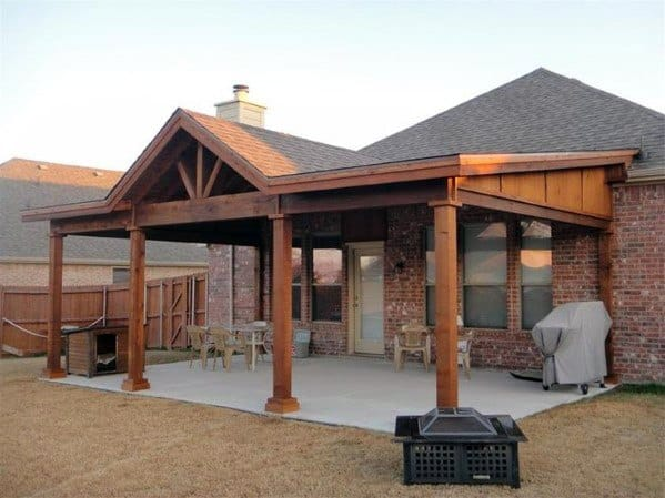 Top 60 Patio Roof Ideas - Covered Shelter Designs on Backyard Overhang Ideas  id=14565