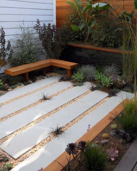 Top 60 Best Gravel Landscaping Ideas - Pebble Designs on Stepping Stone Patio Ideas  id=90047