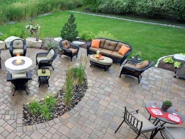 Top 60 Best Paver Patio Ideas - Backyard Dreamscape Designs on Patio Paver Design Ideas id=67577