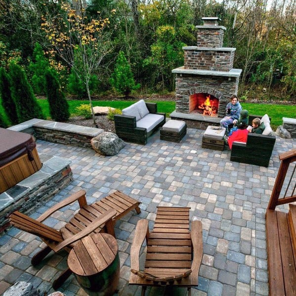 Top 60 Best Paver Patio Ideas - Backyard Dreamscape Designs on Deck And Paver Patio Ideas id=34605