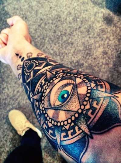 Perfect Illuminati Tattoo Male Forearms