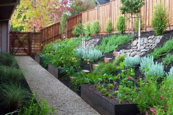 Top 50 Best Slope Landscaping Ideas - Hill Softscape Designs on Hill Backyard Ideas id=65892