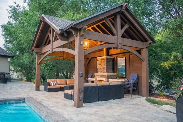 Top 50 Best Backyard Pavilion Ideas - Covered Outdoor ... on Outdoor Patio Pavilion id=59139