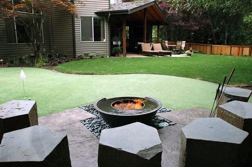 Top 60 Best Cool Backyard Ideas - Outdoor Retreat Designs on Putting Green Ideas For Backyard id=67068