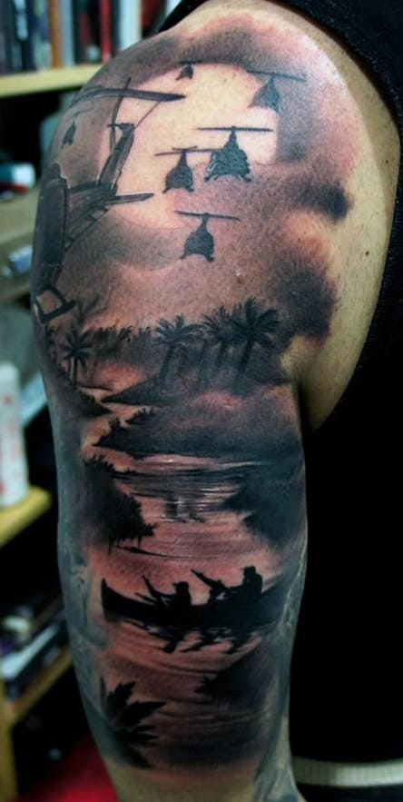 War Sleeve Tattoos
