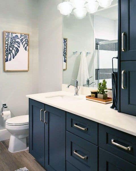 top 50 best blue bathroom ideas navy themed interior designs on blue paint bathroom ideas exterior id=96141