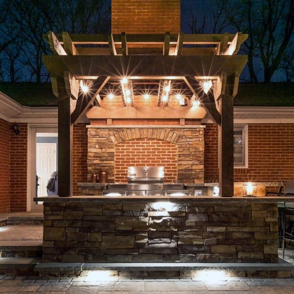 Top 50 Best Built In Grill Ideas - Outdoor Cooking Space ... on Built In Grill Backyard id=71011