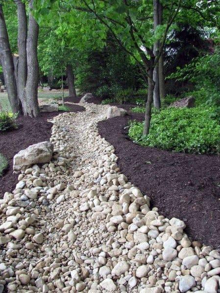 Top 50 Best River Rock Landscaping Ideas - Hardscape Designs on Rocks In Backyard  id=57121
