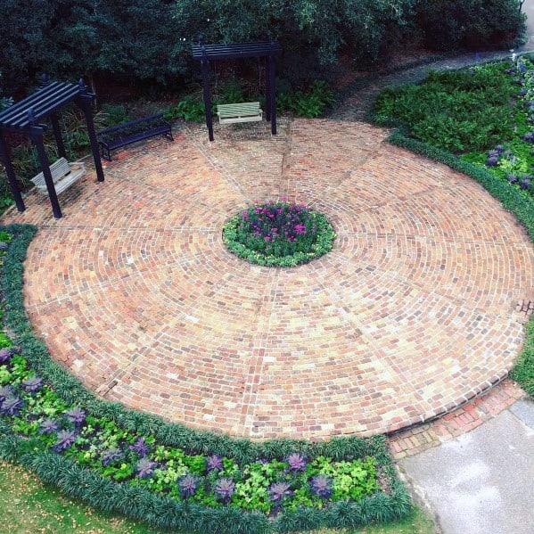 Top 50 Best Brick Patio Ideas - Home Backyard Designs on Backyard Brick Patio id=69503