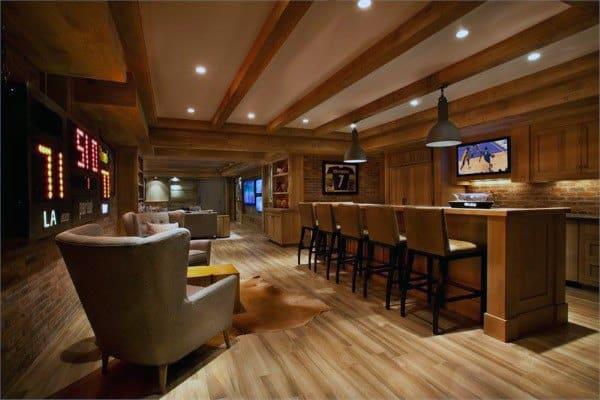 Top 60 Best Basement Ceiling Ideas