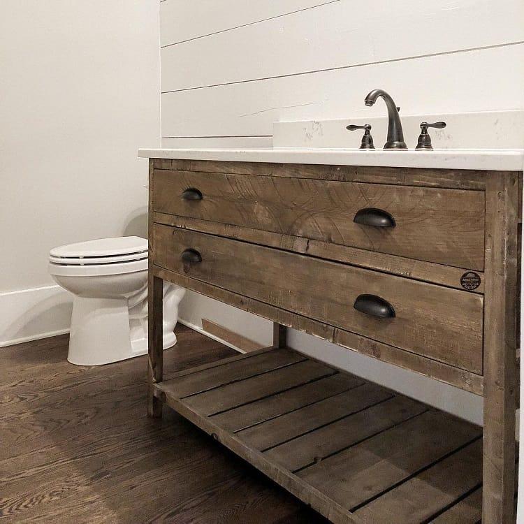 The 70 Best Farmhouse Bathroom Ideas - Home and Design ... on Rustic Farmhouse Farmhouse Bathroom  id=63549
