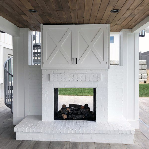 Top 60 Best Patio Fireplace Ideas - Backyard Living Space ... on White Patio Ideas id=74347