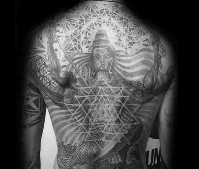 Shiva Tattoos Male On Full Back