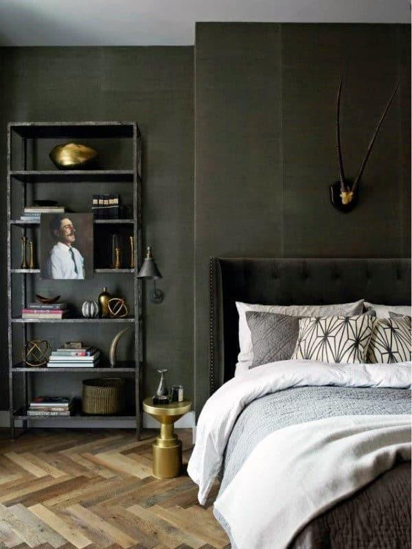 60 Men's Bedroom Ideas - Masculine Interior Design Inspiration on Bedroom Ideas For Guys  id=81298