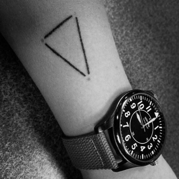 Simple Guys Constellation Triangle Forearm Geometric Tattoo