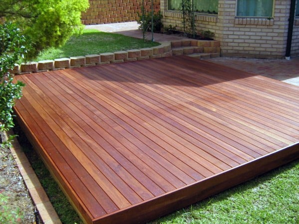 Top 60 Best Floating Deck Ideas - Contemporary Backyard ... on Simple Back Deck Ideas id=50542