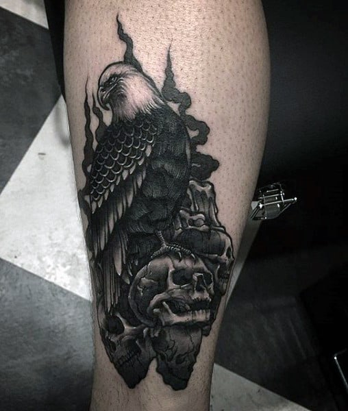 Skull Tattoos With Smoke Men