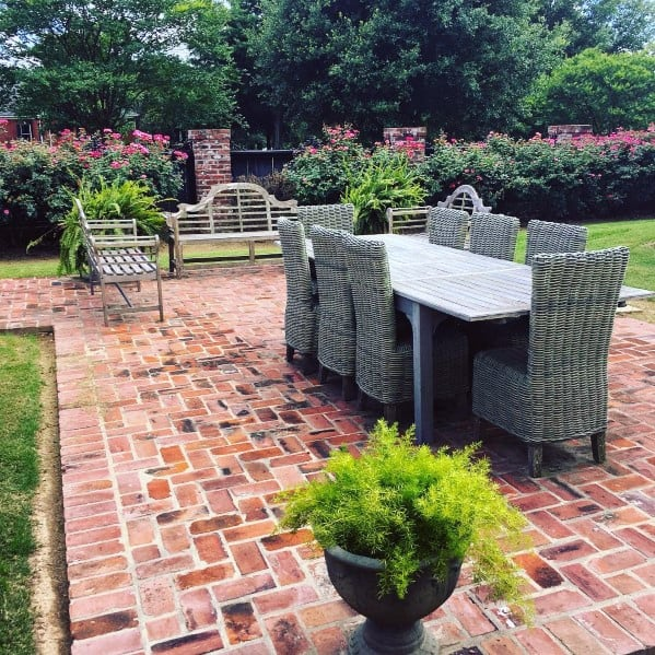 Top 50 Best Brick Patio Ideas - Home Backyard Designs on Small Backyard Brick Patio Ideas  id=39507