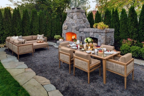 Top 40 Best Gravel Patio Ideas - Backyard Designs on Patio Gravel Ideas id=58436