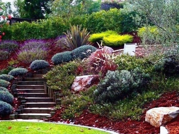Top 50 Best Slope Landscaping Ideas - Hill Softscape Designs on Hill Backyard Ideas id=55434