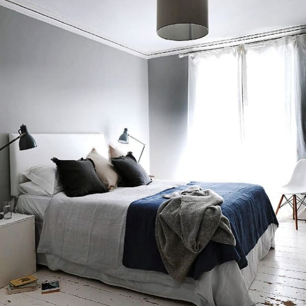 80 Bachelor Pad Men's Bedroom Ideas - Manly Interior Design on Small Room Ideas For Guys  id=33663